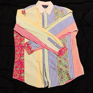 Amazing Polo by Ralph Lauren Button Up Size LARGE.